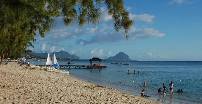 Mauritius spiaggia flic en flac
